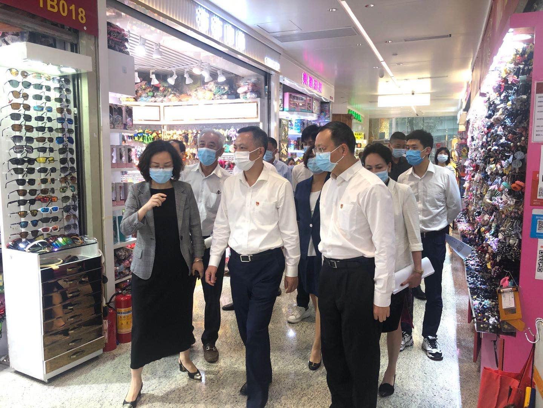 广东省委常委、广州市委书记张硕辅等领导一行  莅临万菱广场参观调研