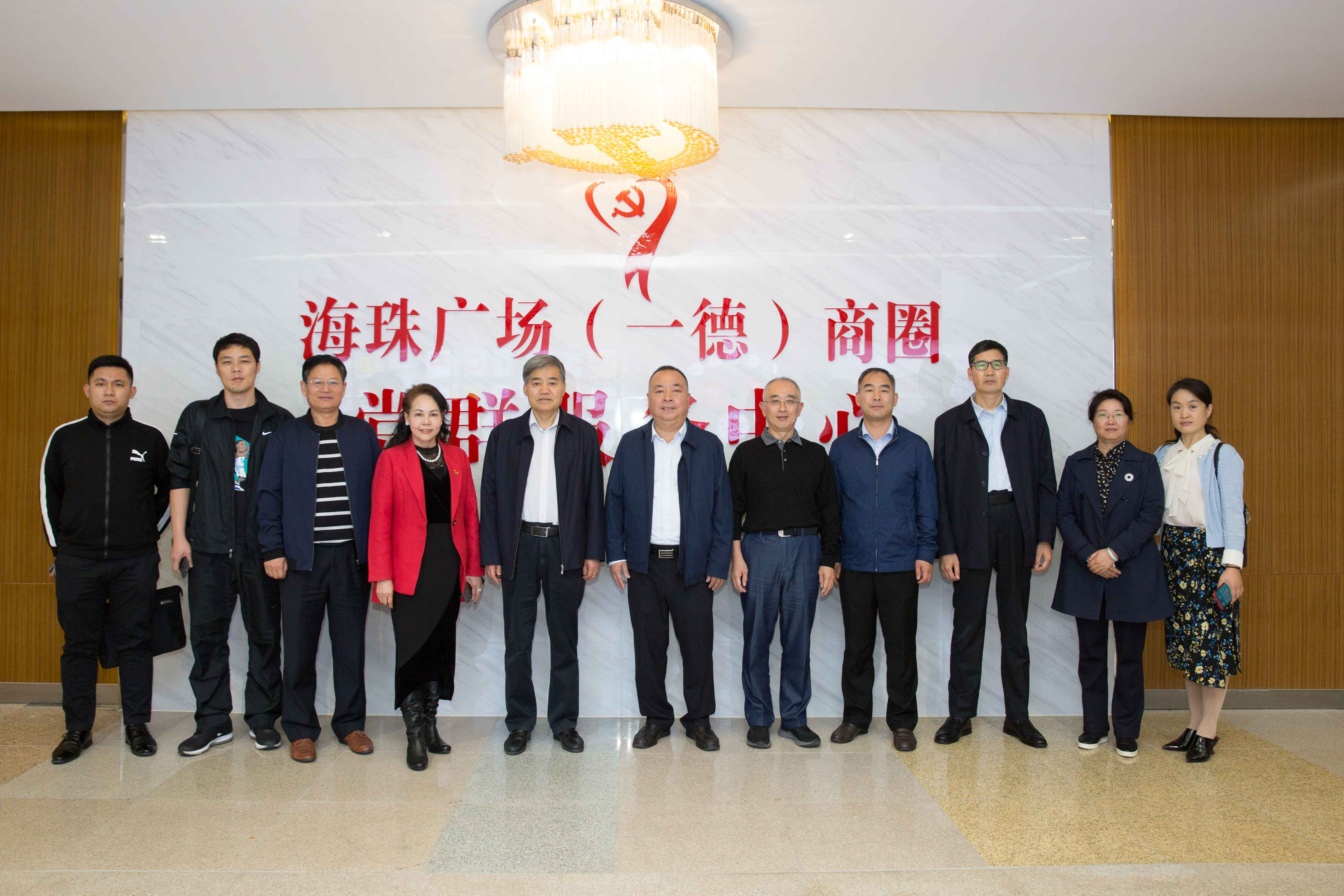 Members of the Standing Committee of the people's Congress of Luozhuang District, Linyi City, Shandong Province visit Wanling square